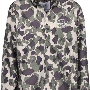 Hershel camo coach windbreaker button up jacket